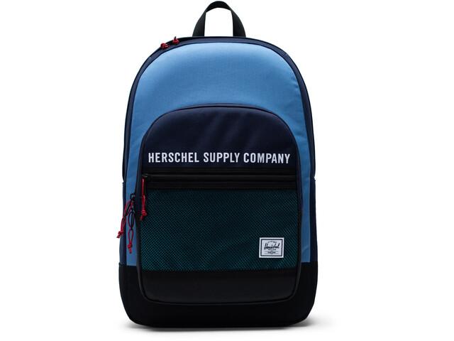 Herschel Kaine Mochila 30l, peacoat/riverside/black/tile blue